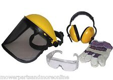 BRUSH CUTTER / CHAINSAW SAFETY PRODUCT SET, VISOR, EAR MUFFS, GLOVES, GOGGLES