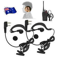 2X Headset/Earpiece Ear Clip For Baofeng Walkie Talkie Radio Security 2 Pin