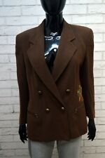 Giacca ICEBERG Donna Size M Blazer Jacket Jacke Lana Vintage Marrone Woman