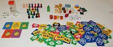 Vintage Game Piece Lot Tokens / Dice / 144 London Underground & Taxi Pieces More