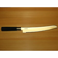 "New Shun/Kai Wasabi 9"" Bread Knife 6723B Black Japan Chef Kershaw Kochmesser"