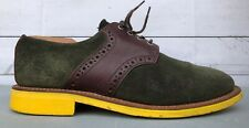 Mark McNairy New Amsterdam Green Suede Oxford Dress Shoe Commando Mens US 10