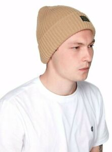 Element Fundamentals Khaki Double Layer Knit Beanie, One Size. NWT, RRP $19.00.
