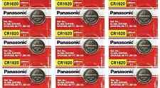 Pack of 9 -- Panasonic Cr1620 3v Lithium Coin Cell Batteries Dl1620 Ecr1620
