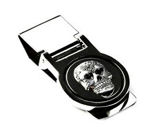 Skull Money Clip - Father's Day - Business Gift - Handmade - Gift Box