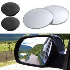 2pcs Car 360° Rearview Glass Frameless Wide Angle Round Convex Blind Spot Mirror
