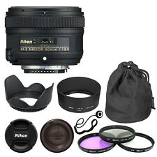Nikon 50mm f/1.8G AF-S NIKKOR Lens + Deluxe Accessory Kit for Nikon DSLR Cameras
