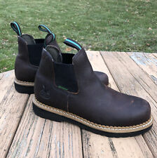 Georgia Boots Giant Romeo High Work Farm GR500 Brown Slip On Mens Size 7.5 NICE