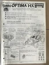 Kyosho Turbo optima 14X Manual Instruction Book VINTAGE