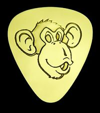 Monkey - Solid Brass Guitar Pick, Acoustic, Electric, Bass