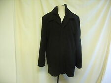 Mens Coat -Cedarwood State, Large Black, Rip to lining, length 81cm -  1172