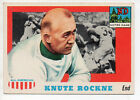 1955 Topps All American Football Card #16-Knute Rockne-Notre Dame