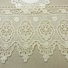 1yd Antique St Scalloped Embroidery Cotton Fabric Crochet Lace Trim 15cm Wide