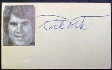 RICK VOLK AUTOGRAPHED SIGNATURE CUT CARD