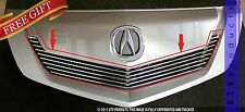 GTG 2009 - 2011 Acura TL 1PC Polished Upper Overlay Billet Grille Grill