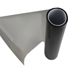 "Gloss Smoke Vinyl Film Tint Headlight Taillight Wrap Cover Light Black 16"" x 60"""