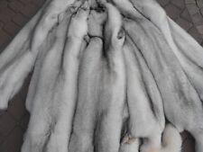 Fuchspelz Fuchsfelle Polarfüchse Fuchs Fell Pelz Teller  Leder Fox Weiß Blau