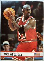 Rare: 1993 93 Fax-Pax World of Sports Michael Jordan #7, Printed in UK!