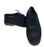 Men's Linea Suede Shoes Lace Up Navy Blue UK 10 EU 44