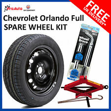 "Chevrolet ORLANDO 2011-2017 16"" FULL SIZE STEEL SPARE WHEEL &TYRE + TOOL KIT"