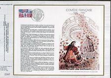 DOCUMENT CEF PREMIER JOUR  1980  TIMBRE   N° 2106 COMEDIE FRANCAISE