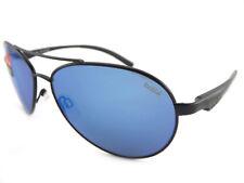 BOLLE Polarized CASSIS Aviator Sunglasses Matte Black / GB10 Blue Mirror 12099