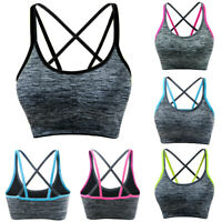 Women's Removable Padded Sports Bras Lingerie Support Workout Yoga Bra