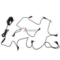 9V 2A Power Supply+ 8 way Daisy Chain Cable Powering Multi Guitar Effect Pedals