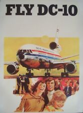 MCDONNELL DOUGLAS FLY DC 10 Vintage 1971 airplane poster 25x40 NM linen backed