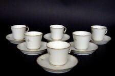 6 tasses à café + leurs  soucoupes porcelaine de SEVRES ép. NAPOLEON III PEYRE