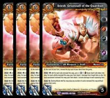 4x Atiesh, Greatstaff of the Guardian Betrayal Epic 177 World Warcraft WoW TCG