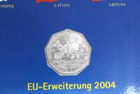 5 Euro Silbermünze Österreich EU Erweiterung 2004