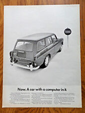 1968 VW Volkswagen Squareback Ad Now A Car with a computer in it