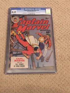Captain Marvel Adventures 46 CGC 4.0 (Shazam from 1945!!)
