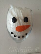 Snowman Face Eyes / Dots & Carrots Christmas Vinyl Decal Stickers DIY Wine Glass