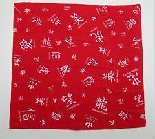 foulard / bandana rouge motifs chinois
