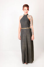 Black & gold shimmer effect Joseph Ribcoff evening cocktail dress cut out back