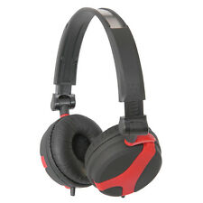 QTX QX40R Red and Black Wired Foldable Stereo Headphones