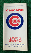 Original 1974 Chicago Cubs Roster Book Media Guide Billy Williams Rick Monday