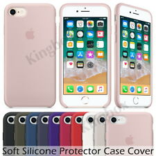 Luxury Original Silicone Case For Apple iPhone X XS Max 6 7 8, Genuine OEM Cover