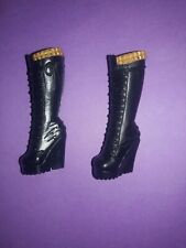 Monster High Doll Clothes Howleen Wolf 13 Black Boots Shoes