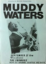 MUDDY WATERS 1980 Seattle CONCERT Poster THE SHOWBOX Guaranteed Original