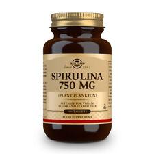 Solgar Spirulina 750mg (Plant Plankton) Food Supplement - 100 Tablets