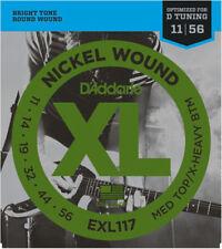 D'Addario EXL117 Medium Top / Extra Heavy Bottom Electric Guitar Strings 11 - 56