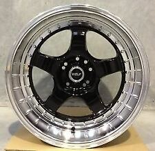 WOLF S1P WHEELS 18x10 4x114.3 5x114.3 +35 (PAIR)  fitments to work on most cars!