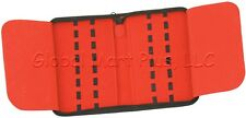Folding Pocket Knife Storage Case Pouch Holds 16 Nylon Padded Felt Carry All