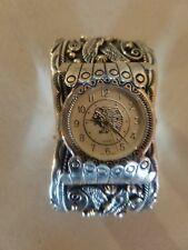 Bracelet Mens Cuff Size 9 Navajo Huge Sterling Silver Eagle Watch