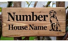 Labrador Golden Retriever House Number Sign Name Plaque Plate Personalised Dog