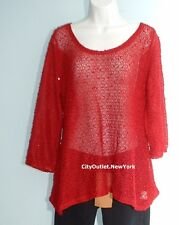 STYLE&CO. Women Sz XL Scoop-Neck Pullover Sweater Sequins Detailed NEW