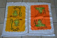 Vintage Frog Kitchen Hand Towels Clever Sayings Home Decor Cartoon Retro Groovy